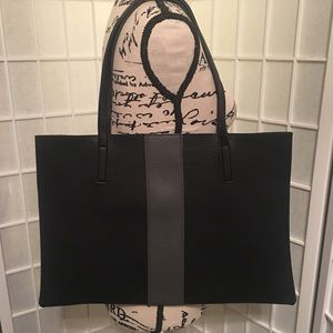 Vince Camuto Black Gray Large Tote NWOT